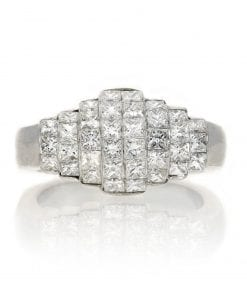 Classic Invisible Set Diamond RingStyle #: PD-25365