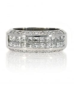 Classic Invisible Set Diamond RingStyle #: PD-31987