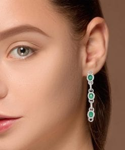 Glamorous  Emerald EarringsStyle #: PD-59632