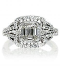 Classic Emerald Cut Diamond RingStyle #: PD-76140