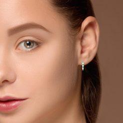 Hoops Emerald EarringsStyle #: ANC-JA481B