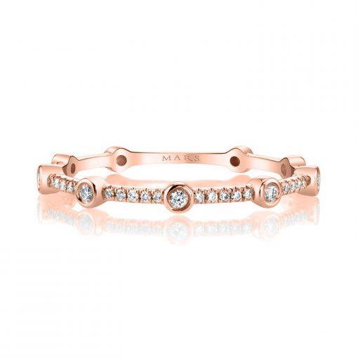 Modern, Stackable Diamond RingStyle #: MARS-27265