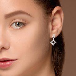 Diamond Earrings<br>Style #: JW-EAR-RB-006