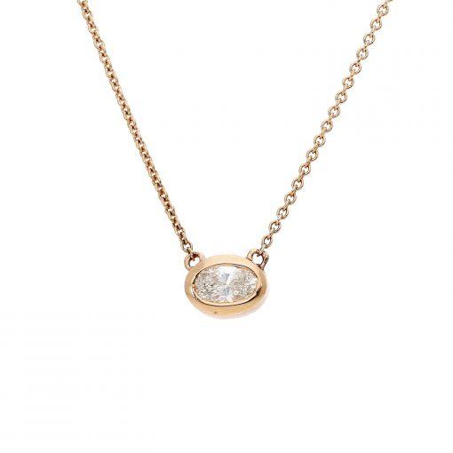 Oval Diamond NecklaceStyle #: 9167695