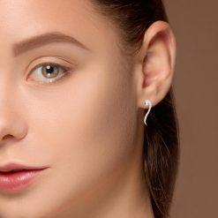 Diamond Earrings<br>Style #: ANC-EJ1666