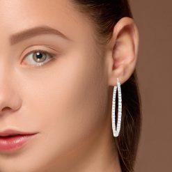 Diamond Earrings<br>Style #: HOOPER-107