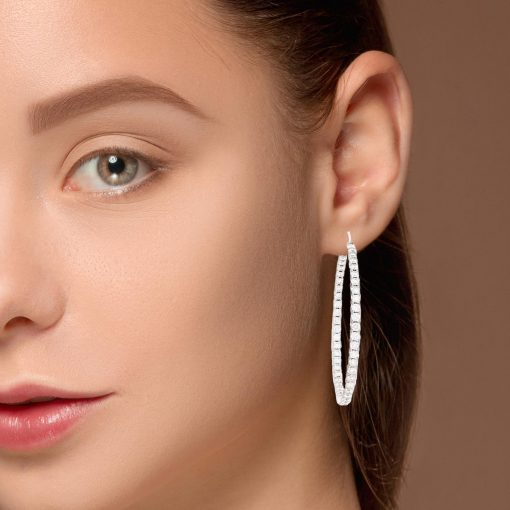Diamond EarringsStyle #: HOOPER-107