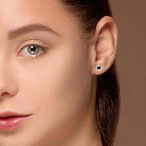 Black Diamond EarringsStyle #: MH-EAR1100