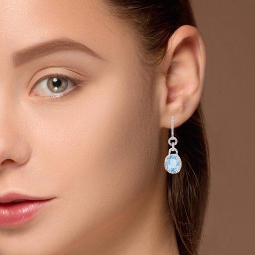 Blue Topaz EarringsStyle #: PD-LQ3666E