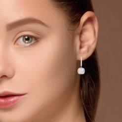 Diamond Earrings<br>Style #: PD-LQ8643E