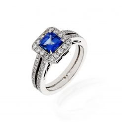 Sapphire Ring<br>Style #: PSAF-011