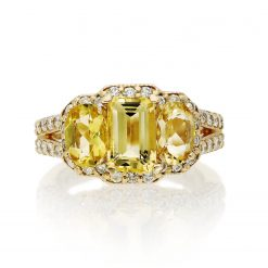 Yellow Beryl Ring<br>Style #: MH-RING-YELLOW-BERYL