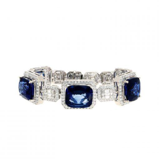 Created Sapphire  Bracelet Style #: JW-BRAC-SP-001
