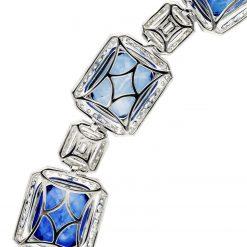 Created Sapphire  Bracelet <br>Style #: JW-BRAC-SP-001