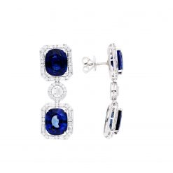 Sapphire Earrings<br>Style #: JW-EAR-SP-002