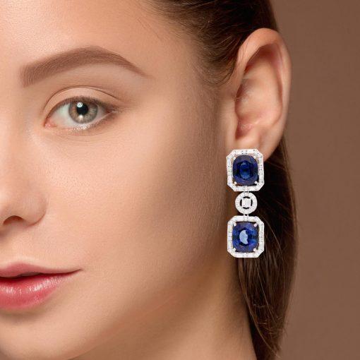 Sapphire EarringsStyle #: JW-EAR-SP-002