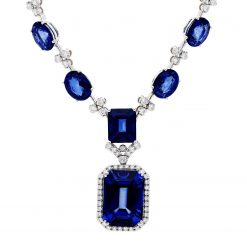 Sapphire NecklaceStyle #: JW-NECK-HM-005