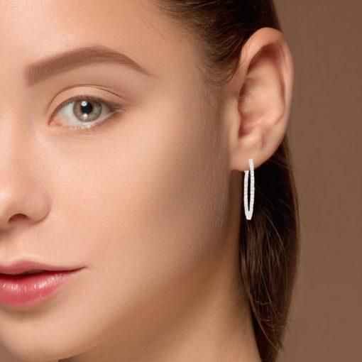 Diamond Earrings Style #: ROY-WC9809D