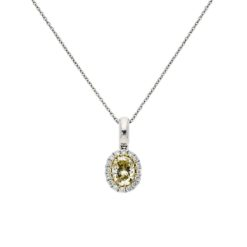 Yellow Diamond NecklaceStyle #: PD-LQ7436N