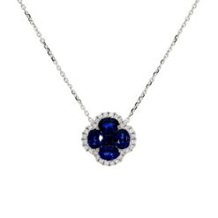 Sapphire Necklace<br>Style #: PD-LQ3665N
