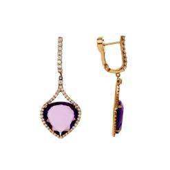 Dangle Amethyst EarringsStyle #: ANC-AN4276