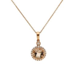 Morganite  NecklaceStyle #: ANC-NV1587