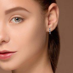 Hoops Sapphire  Earrings<br>Style #: PD-LQ10552E