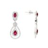 Dangle Ruby Earrings<br>Style #: PD-LQ3327E
