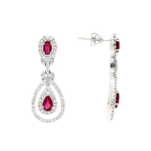 Dangle Ruby EarringsStyle #: PD-LQ3327E