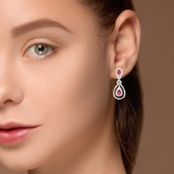 Dangle Ruby EarringsStyle #: PD-LQ3327E