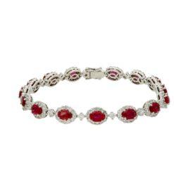 Ruby Bracelet Style #: PD-LQ3595BR