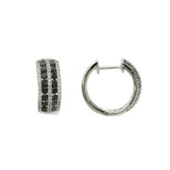Hoops Black Diamond EarringsStyle #: PD-LQ7507E