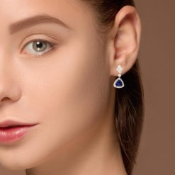 Dangle Sapphire EarringsStyle #: PD-LQ9043E