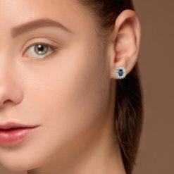 Studs Sapphire  EarringsStyle #: PRINS-45163