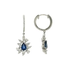 Dangle Created Sapphire  EarringsStyle #: ROY-WC94245