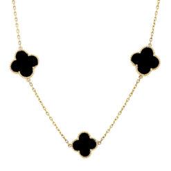 Onyx Necklace <br>Style #: WLI-J13184FJN