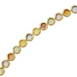 Bezel Sapphire- multi color Bracelet <br>Style #: WLI-J1346FJB