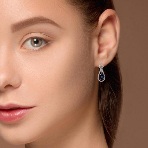 Sapphire  EarringsStyle #: ROY-WC6549S