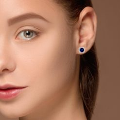 Sapphire Earrings Style #: PD-LQ10180E