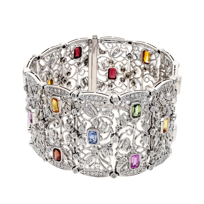 Fancy Colored Sapphires BraceletStyle #: PD-LQ2615BR