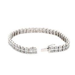 Baguette Diamond Bracelet<br>Style #: PD-LQ3556BR