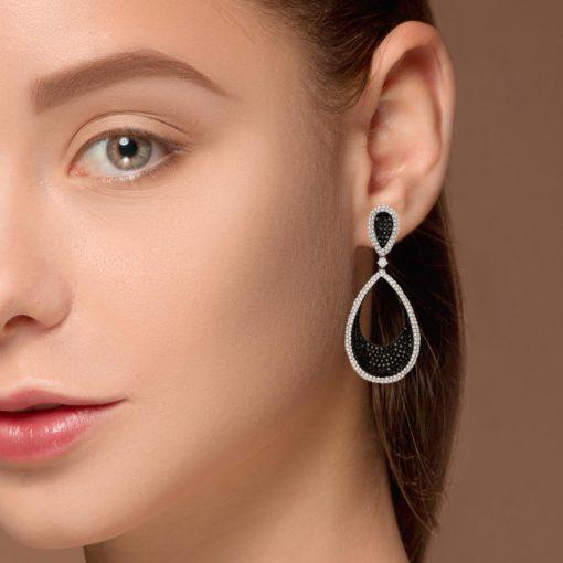 Black Diamond EarringsStyle #: PD-LQ6445E