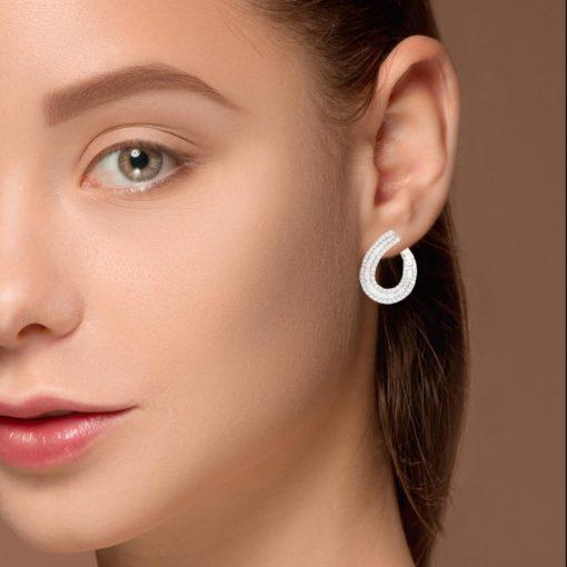 Baguette Diamonds EarringsStyle #: PD-LQ10007E
