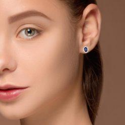 Sapphire Earrings<br>Style #: PD-LQ7939E